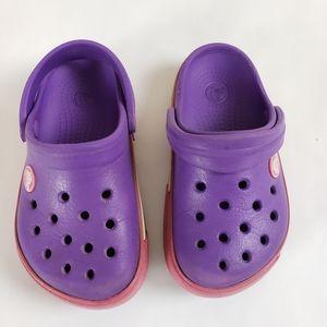 Crocs | Purple Youth Girls Slip On Shoes Size 8/9